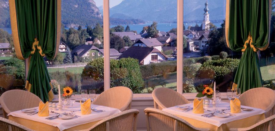 Hotel Hollweger, St. Gilgen, Salzkammergut, Austria - restaurant with view.jpg